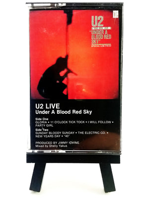 U2 - Under A Blood Red Sky (Live) Cassette Tape Cassettes - Iconic Relics