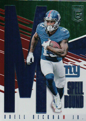 2017 Donruss Elite *Spell Bound* - Odell Beckham Jr #40 - Iconic Relics - Football Cards