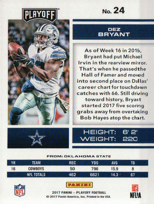 2017 Playoff - Dez Bryant #24 - Iconic Relics