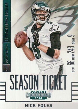 2014 Panini Contenders - Nick Foles #42 - Iconic Relics