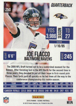 2015 Score - Joe Flacco #250 - Iconic Relics - Football Cards