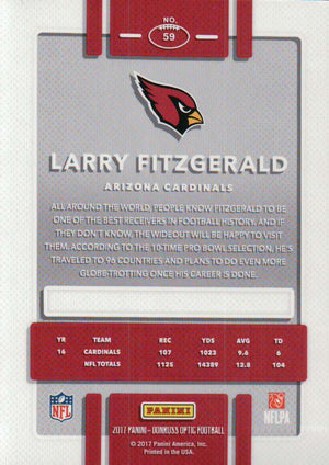 2017 Donruss Optic - Larry Fitzgerald #59 - Iconic Relics