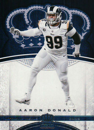 2017 Panini Crown Royale - Aaron Donald #75 - Iconic Relics