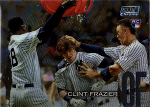2018 Stadium Club - Clint Frazier RC Chrome Parallel (Rookie) #SCC-3 Baseball Cards - Iconic Relics