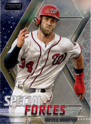 2018 Stadium Club *Special Forces* - Bryce Harper #SF-BH Baseball Cards - Iconic Relics