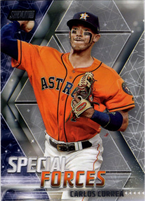 2018 Stadium Club *Special Forces* - Carlos Correa #SF-CC Baseball Cards - Iconic Relics