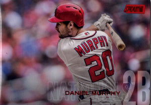 2018 Stadium Club - Daniel Murphy #14 (Red Parallel) Baseball Cards - Iconic Relics