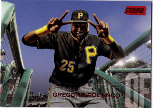 2018 Stadium Club - Gregory Polanco (Red Parallel) #255 Baseball Cards - Iconic Relics