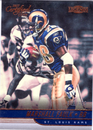 2017 Certified Cuts *Legends* - Marshall Faulk (#'d 375/399) #138