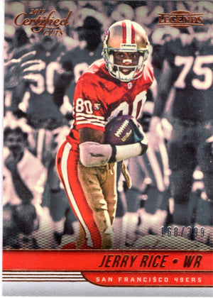 2017 Certified Cuts *Legends*  - Jerry Rice (#'d 168/399) #101 - Iconic Relics - Football Cards