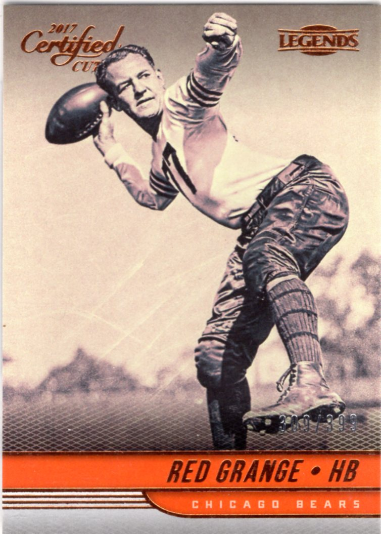 2017 Certified Cuts *Legends*  - Red Grange (#'d 309/399) #128