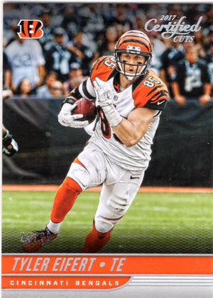 2017 Certified Cuts  - Tyler Eifert (#'d 29/99, Foil Refractor) #81 - Iconic Relics - Football Cards