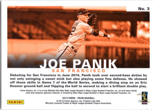 2015 Prizm *Passion* - Joe Panik #3 - Iconic Relics - Baseball Cards