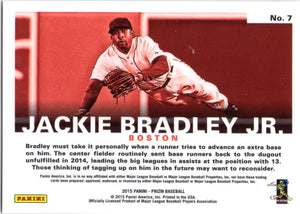 2015 Prizm *Passion* - Jackie Bradley Jr. #7 - Iconic Relics - Baseball Cards
