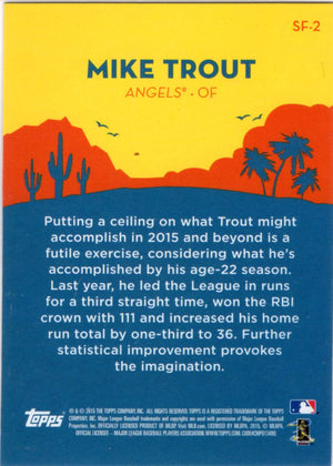 2015 Topps Spring Fever - Mike Trout #SF-2 - Iconic Relics - Baseball Cards