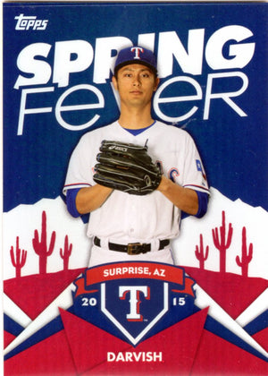 2015 Topps Spring Fever - Yu Darvish #SF-23 - Iconic Relics - Baseball Cards