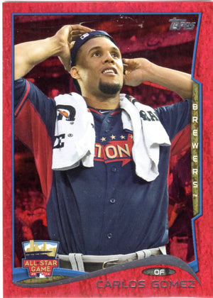 2014 Topps *Red Hot Foil Parallel* - Carlos Gomez #US-315