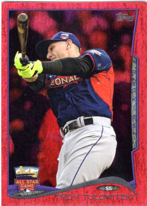 2014 Topps *Red Hot Foil Parallel* - Troy Tulowitzki #US-310 - Iconic Relics - Baseball Cards