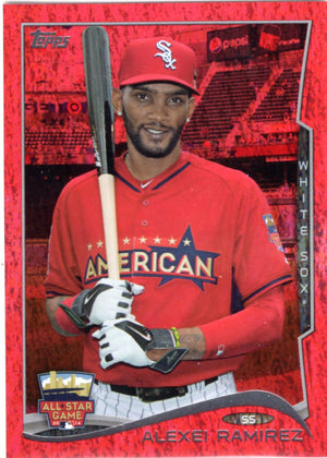 2014 Topps *Red Hot Foil Parallel* - Alexei Ramirez #US-309 - Iconic Relics - Baseball Cards