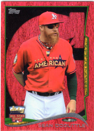 2014 Topps *Red Hot Foil Parallel* - Sean Doolittle #US-305 - Iconic Relics - Baseball Cards