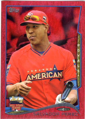 2014 Topps *Red Hot Foil Parallel* - Salvador Perez #US-97 - Iconic Relics - Baseball Cards