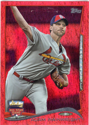 2014 Topps *Red Hot Foil Parallel* - Adam Wainwright #US-289 - Iconic Relics - Baseball Cards