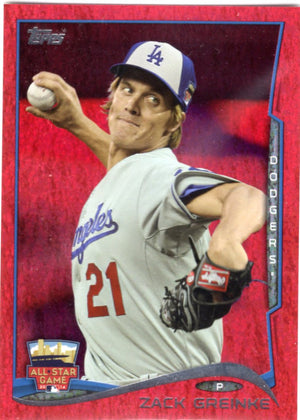 2014 Topps *Red Hot Foil Parallel* - Zack Greinke #US-297 - Iconic Relics - Baseball Cards