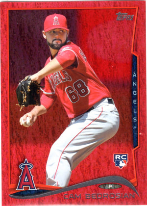 2014 Topps *Red Hot Foil Parallel* - Cam Bedrosian (Rookie, RC) #US-290 - Iconic Relics - Baseball Cards