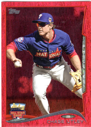 2014 Topps *Red Hot Foil Parallel* - Chase Utley #US-292
