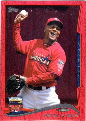 2014 Topps *Red Hot Foil Parallel* - Erick Aybar #US-246 - Iconic Relics - Baseball Cards
