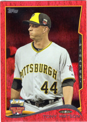 2014 Topps *Red Hot Foil Parallel* - Tony Watson #US-247 - Iconic Relics - Baseball Cards