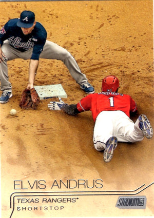 2015 Stadium Club - Elvis Andrus #160 - Iconic Relics - Baseball Cards