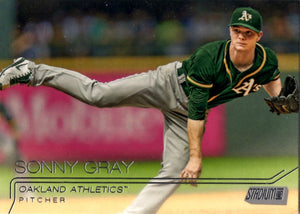 2015 Stadium Club - Sonny Gray #2 - Iconic Relics - Baseball Cards