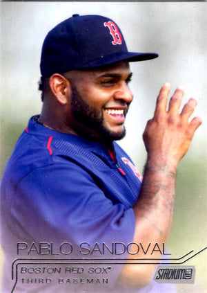 2015 Stadium Club - Pablo Sandoval #287 - Iconic Relics - Baseball Cards