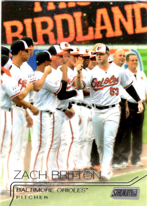2015 Stadium Club - Zach Britton #10 - Iconic Relics