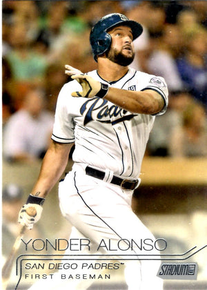 2015 Stadium Club - Yonder Alonso #46 - Iconic Relics - Baseball Cards