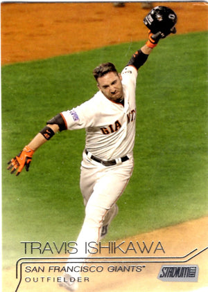 2015 Stadium Club - Travis Ishikawa #183 - Iconic Relics - Baseball Cards