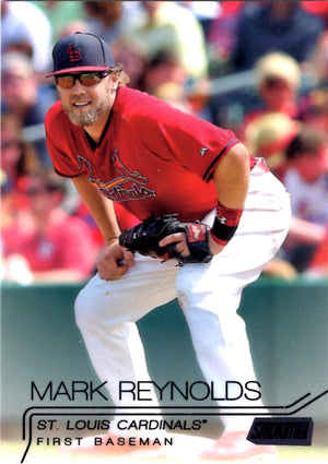 2015 Stadium Club - Mark Reynolds #8 (Black Parallel) - Iconic Relics