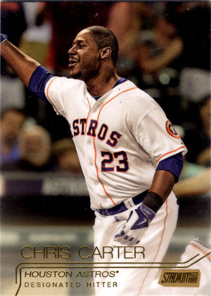 2015 Stadium Club - Chris Carter #156 (Gold Parallel) - Iconic Relics