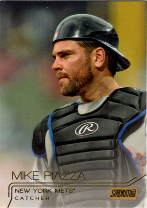 2015 Stadium Club - Mike Piazza #273 (Gold Parallel) - Iconic Relics