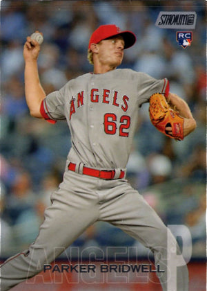 2018 Stadium Club - Parker Bridwell #214 (Rookie, RC) Baseball Cards - Iconic Relics