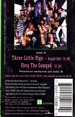 Green Jello - Three (3) Litte Pigs Cassette Tape Single Cassettes - Iconic Relics