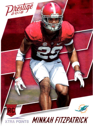 2018 Prestige - Minkah Fitzpatrick SP (Red Parallell, Rookie, RC) #270 Football Cards - Iconic Relics
