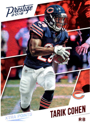 2018 Prestige - Tarik Cohen Xtra Points (Red Parallell) #178 Football Cards - Iconic Relics