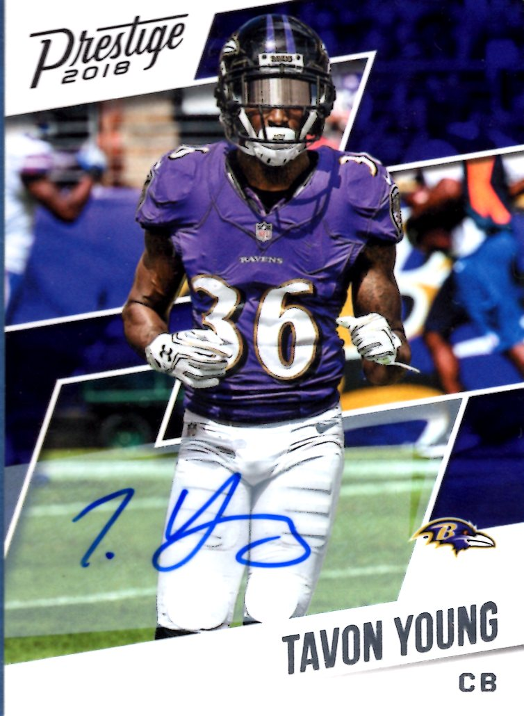2018 Prestige - Tavon Young (Autograph) #149 Football Cards - Iconic Relics