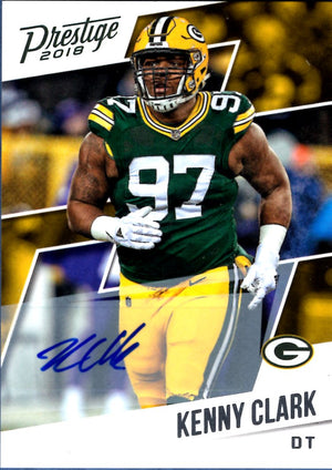 2018 Prestige - Kenny Clark (Autograph) #142 Football Cards - Iconic Relics