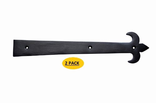 A29 Decorative Door Strap, Aluminium, Black Powder Coat Finish, Handmade, 2-pack