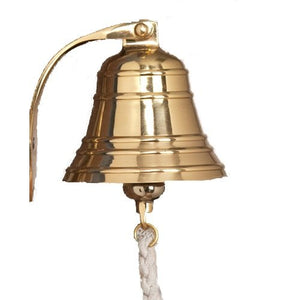 A29 Solid Brass Ships Bell / Nautical Bell, Polished Lacquered Finish