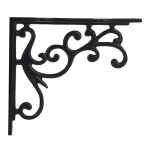 Set of 2, A29 Hardware, 5 x 4 1/2 Inch Iron Shelf Bracket Black Powder Coat Heavy Duty Shelf Support, Easy Installation Hardware