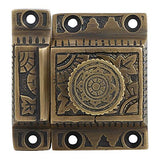 Iron Cabinet Latch Handmade Antique Brass Finish Latch for Cabinet Closet Kitchen Door Windsor Design Sold as Each